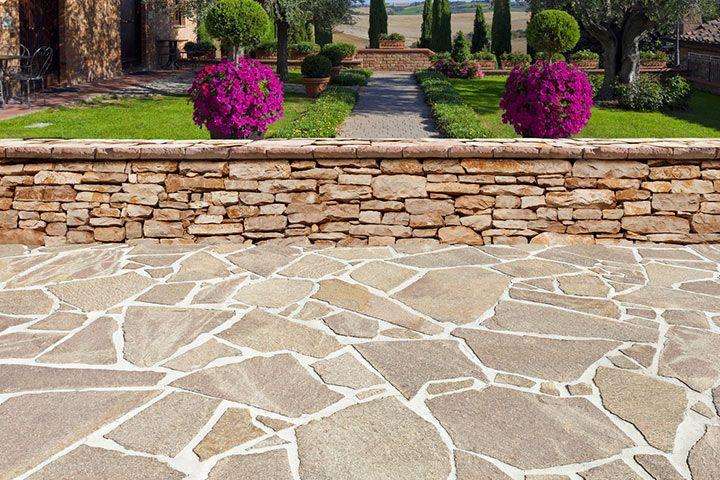 kuhles naturstein terrassenplatten polygonalplatten cool bild und fdecabdefcffffb