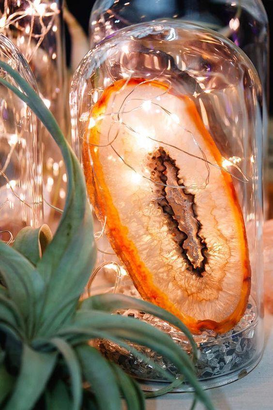 55 Cool & Chic Geode Wedding Ideas | Wedding Centerpieces ...