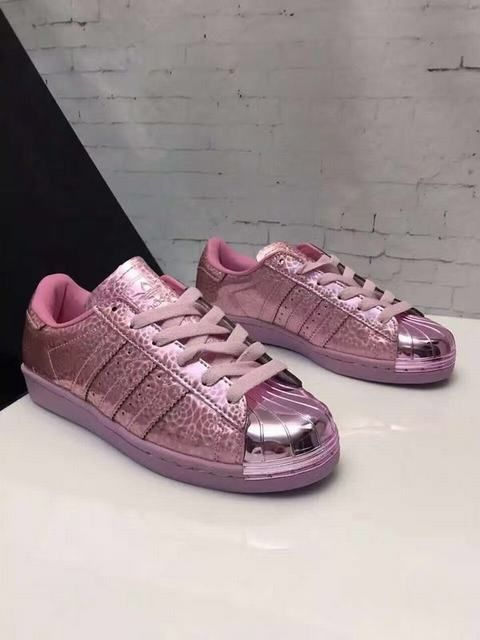 ab959fe2009f Ladies Adidas Superstar 3d Electroplate Pink Sneakers
