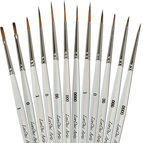 Acrylic Paint Brushes 12 Brush Set Fine Detail Painting Of Art
