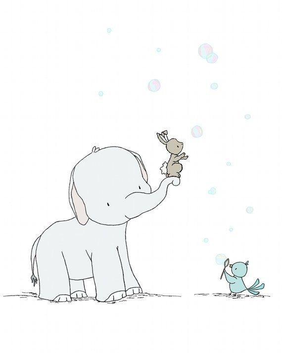 Éléphant pépinière ArtAttraper les par SweetMelodyDesigns sur Etsy