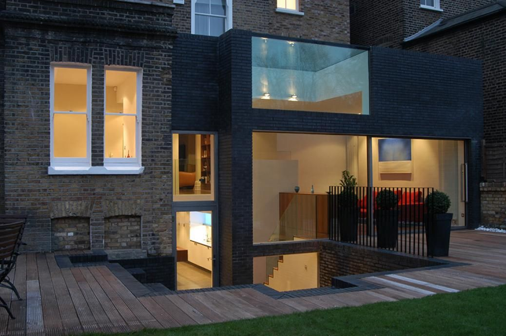 sunken kitchen with extension london - Google Search