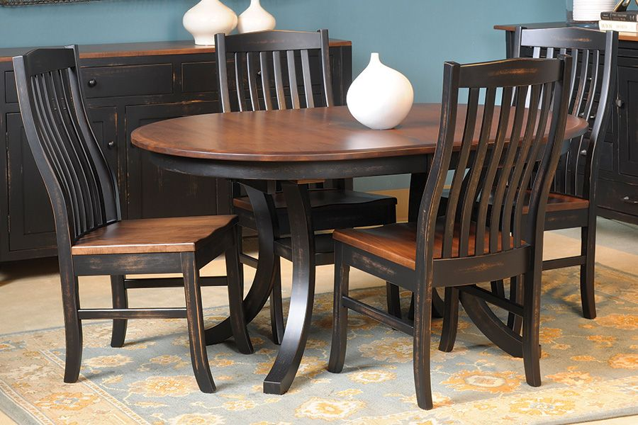 Trestle Table With 2 Leaves Amish Handcrafted And Usa Made