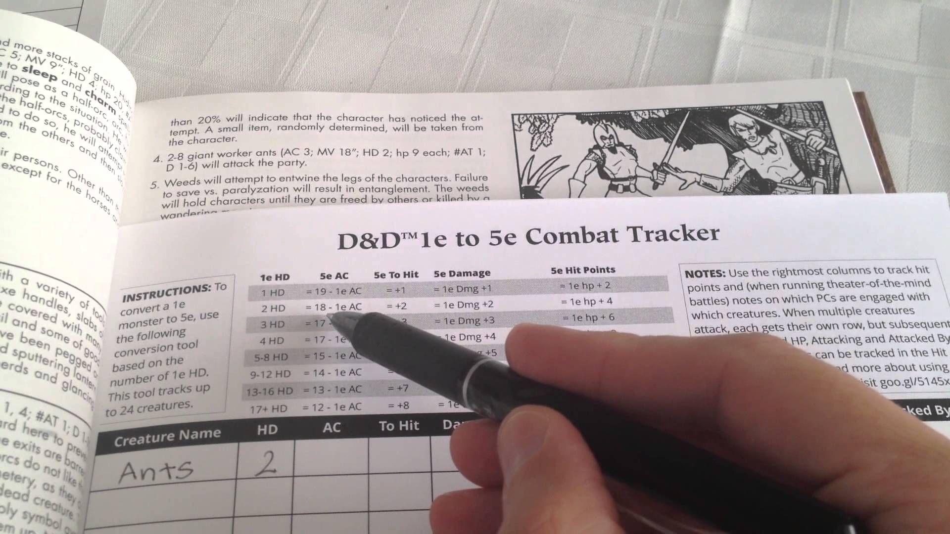 Stan Shinn's D&D 1e to 5e Combat Tracker | D&D in 2019 | D&d, Rpg