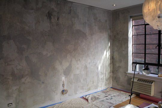 Adventures In Color Washing Washing Walls Faux Walls Faux Concrete Wall