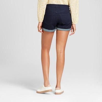 de7f6add40ec8 Women s Mid-Rise Midi Jean Shorts - Universal Thread Dark Wash 18 ...