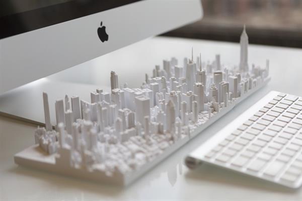 Map Of New York 3d.3d Printed Microscape Of New York Art 3d Printer Designs 3d