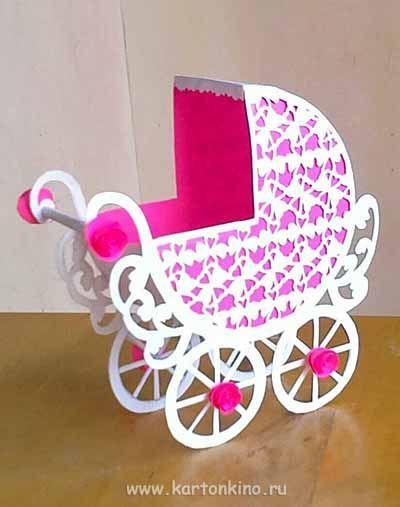 Detskaya Kolyaska Iz Bumagi Konkursnyj Master Klass Paper Crafts Cards Handmade Baby Cards