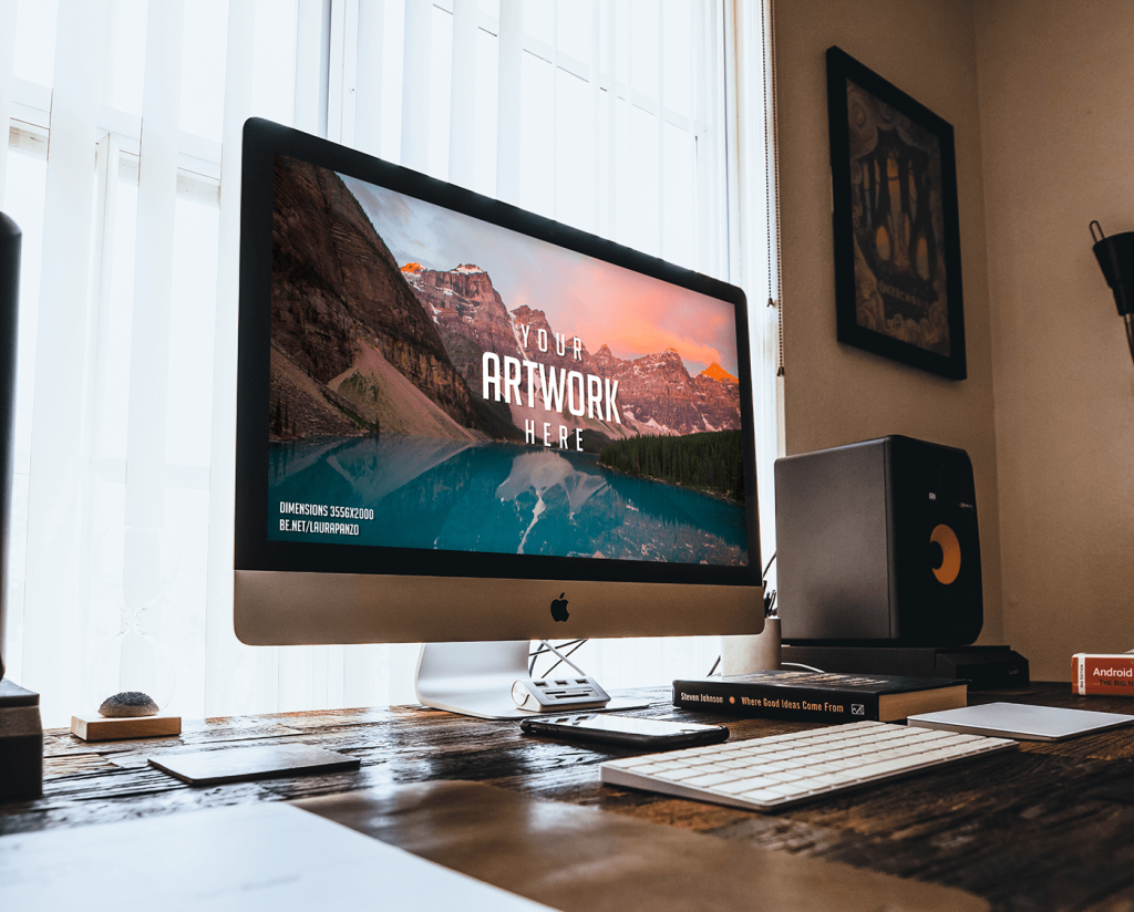 Free Mac Desktop Mockup Mac Desktop Mockup Desk Imac