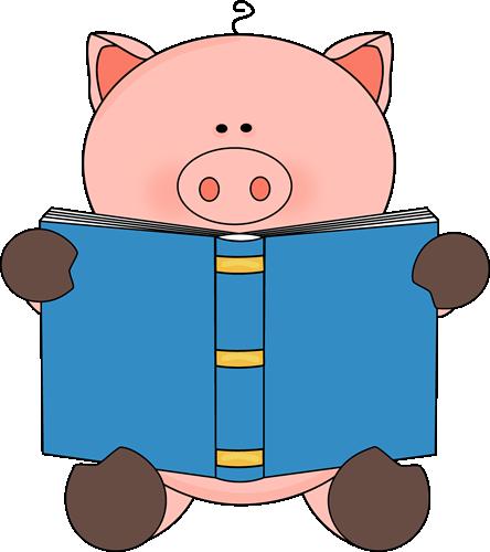 pig reading a book pig pinterest pig images pig stuff and rh pinterest com Animated Pig Pig Icon