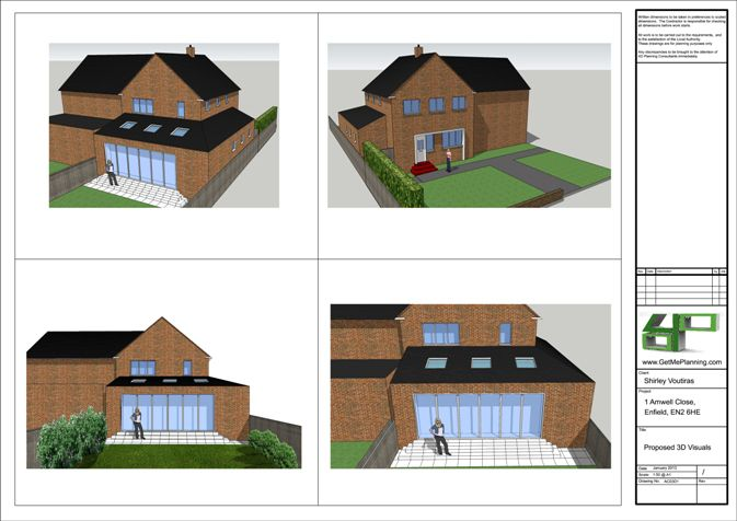 London Planning Permission Consultants architectural Drawings Rear ...