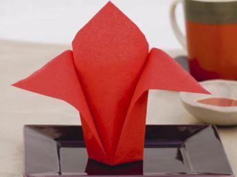 Pliage de serviettes : l'avion - Pliage de serviettes : toutes les étapes