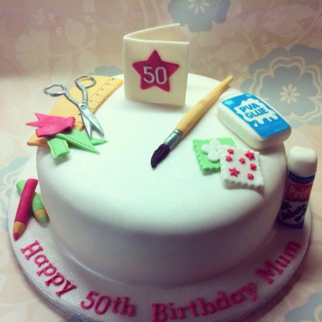 Card making themed birthday cake birthday cakes ...