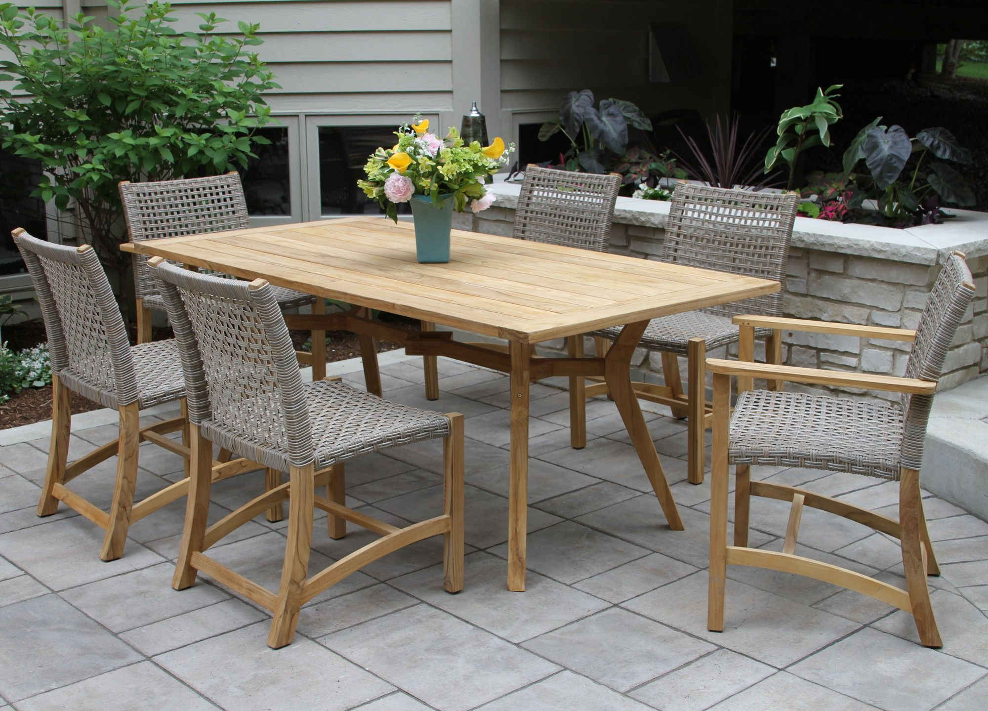 Nice Pelican Nautical Teak 7 Piece Dining Set