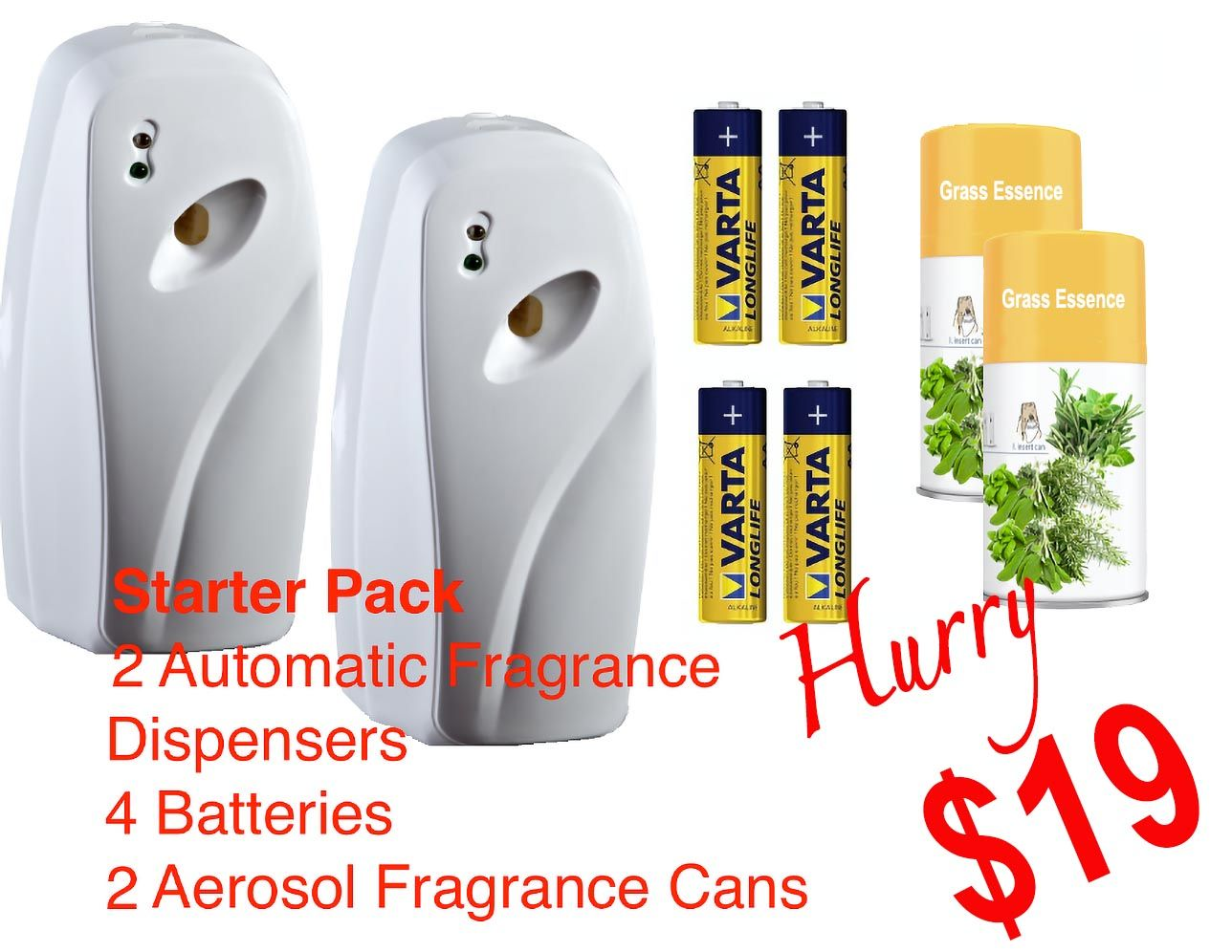 Starter Pack Fragrance Dispensers and Aerosol Cans