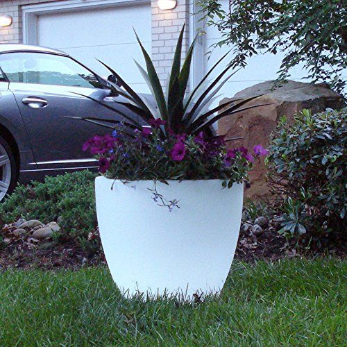 Bon Decor Illuminated Planter - Clear - 20 diam. x 17H in.