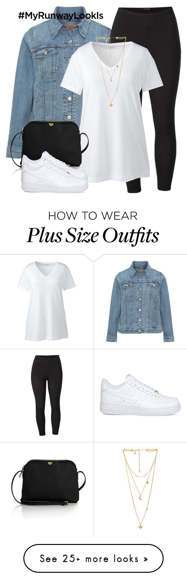 """""""Plus size """" by karlamichell on Polyvore featuring Levi's, Venus, Lands' End, The Row, NIKE, Rebecca Minkoff and plus size clothing"""
