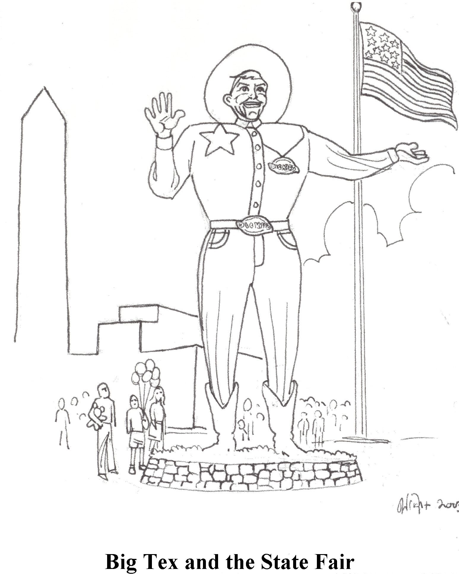 Texas Map Coloring Pages