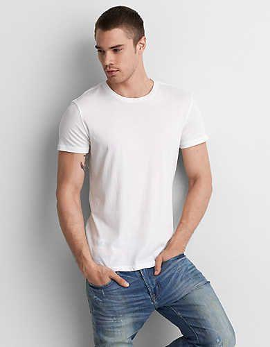 0bdd0e88 AEO Pima Crew T-Shirt, White | American Eagle Outfitters | Clothing ...