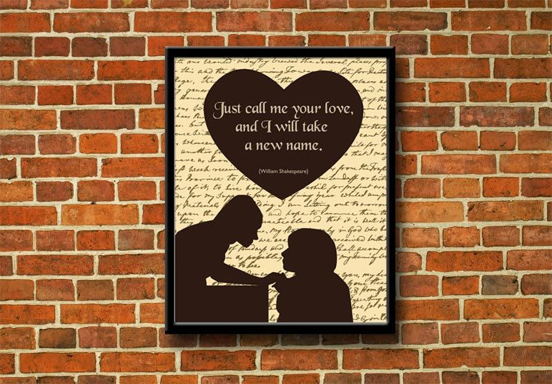 Romeo and Juliet printable poster William by LaBottegaDigitale, €6.60