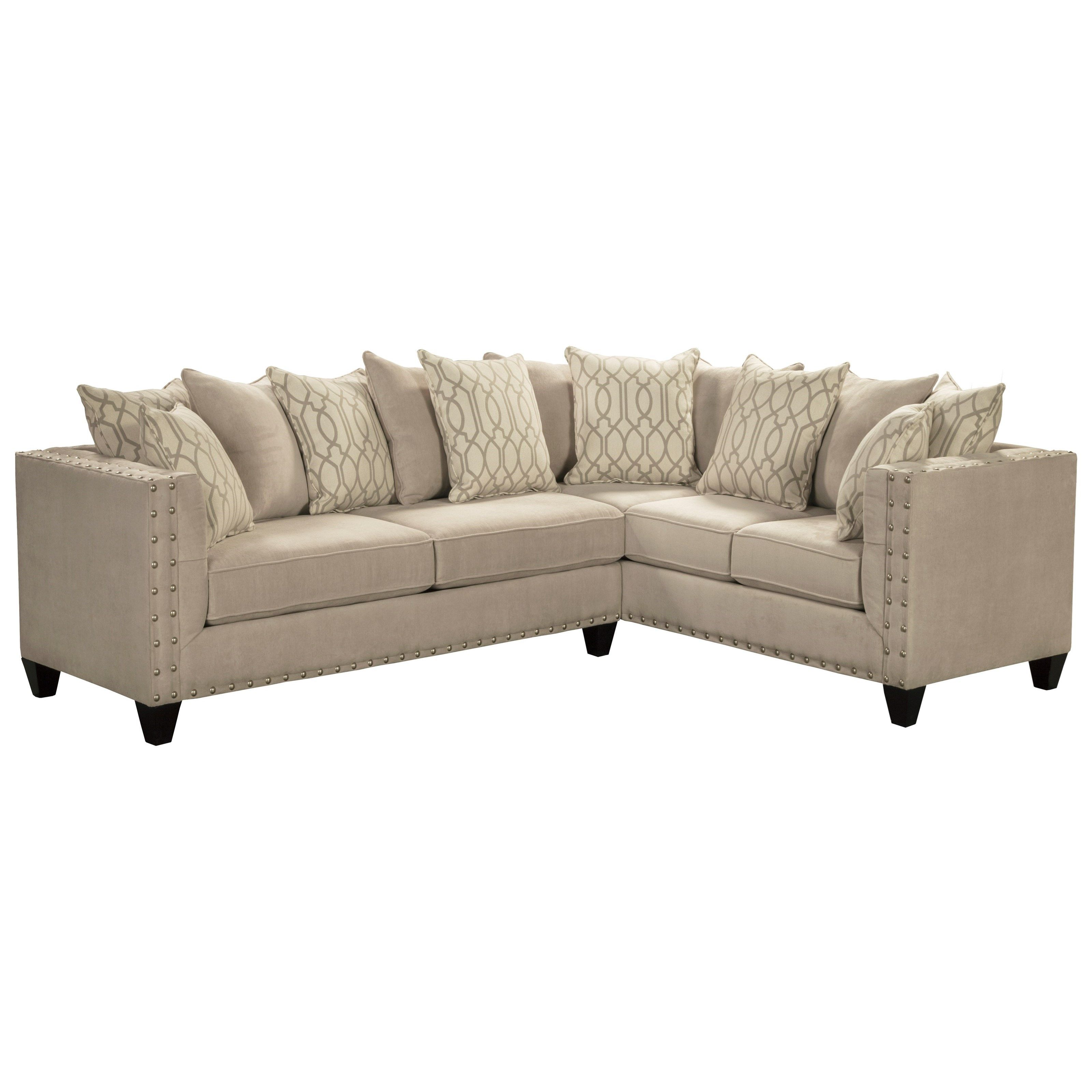 Stupendous Roxanne By Robert Michael Upholstered Sectional Sofa By Machost Co Dining Chair Design Ideas Machostcouk