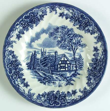 Churchill The Brook Blue Made In England Bread Butter Plate 6 3 4 In Tableware Accessories Blue And White China Plates