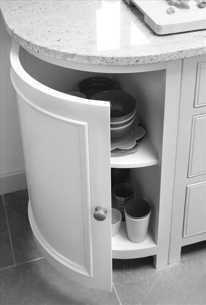 Curved Kitchen Base Cabinets