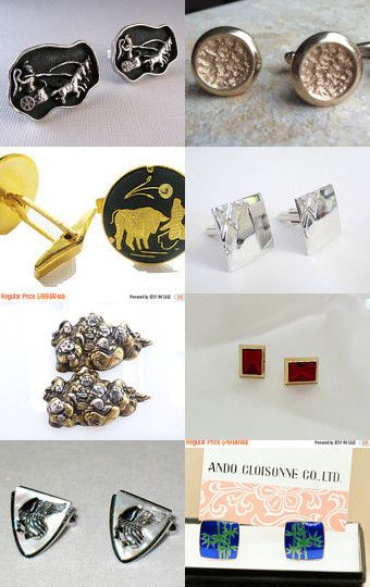 The Modern Man - Vintage Cufflinks from Vjt by moonbeam0923 on Etsy--Pinned with TreasuryPin.com