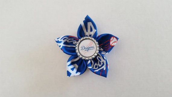 Los Angeles Dodgers Hair Flower Hairbow by LilLoveBugsCreations