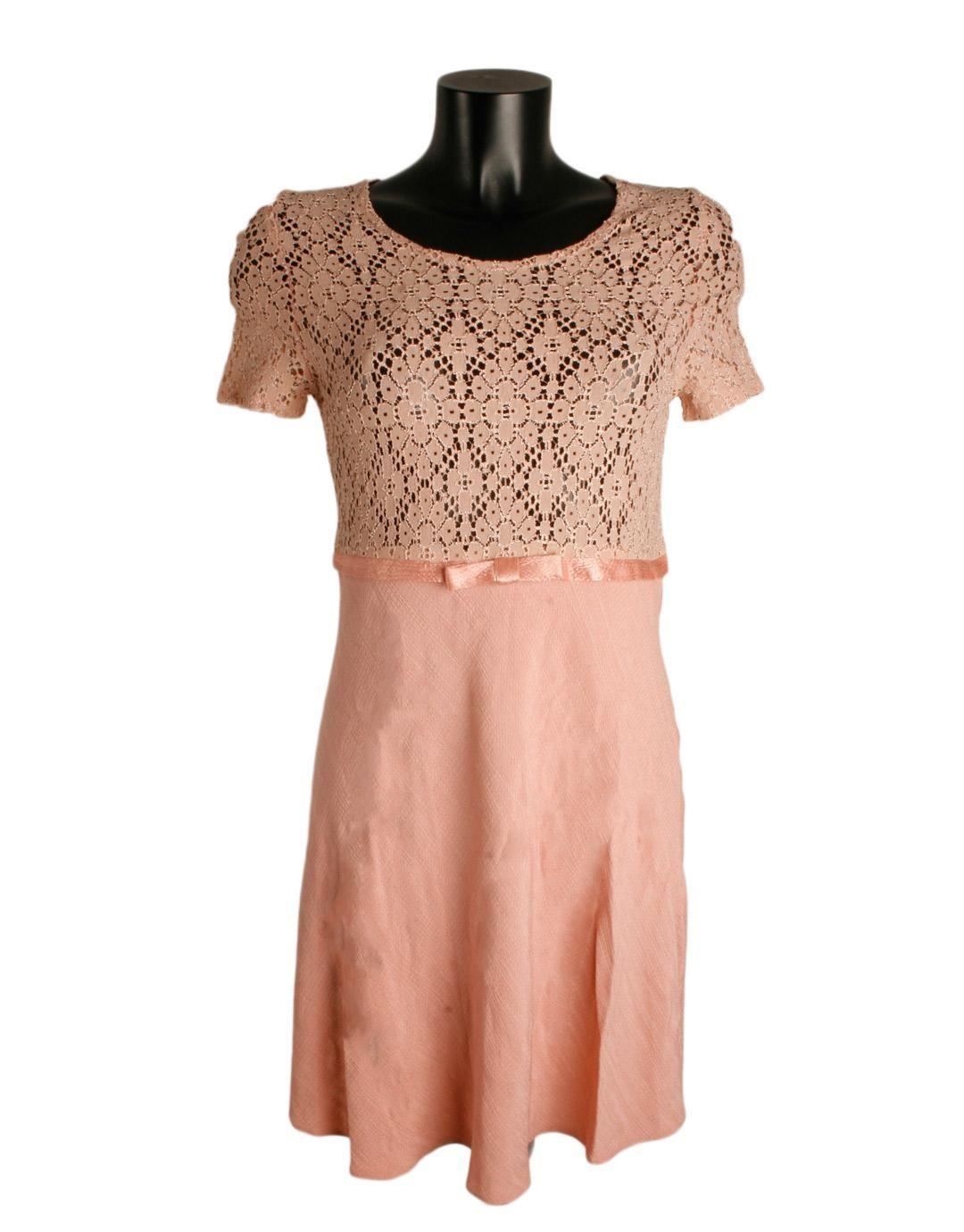 Vestido rosa palo corto el corte ingles