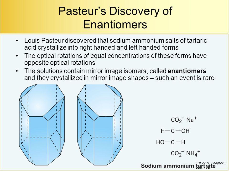 Tartaric Acid Pasteur Tech Pinterest