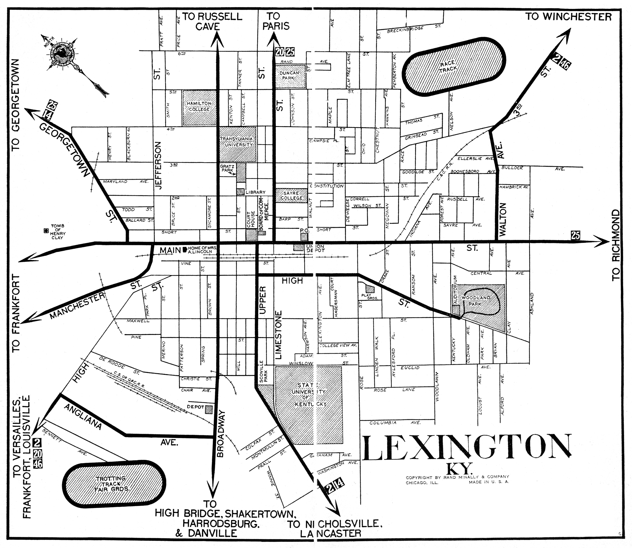 Map Image | Lexington KY History, 1900-1950 in 2019 | City