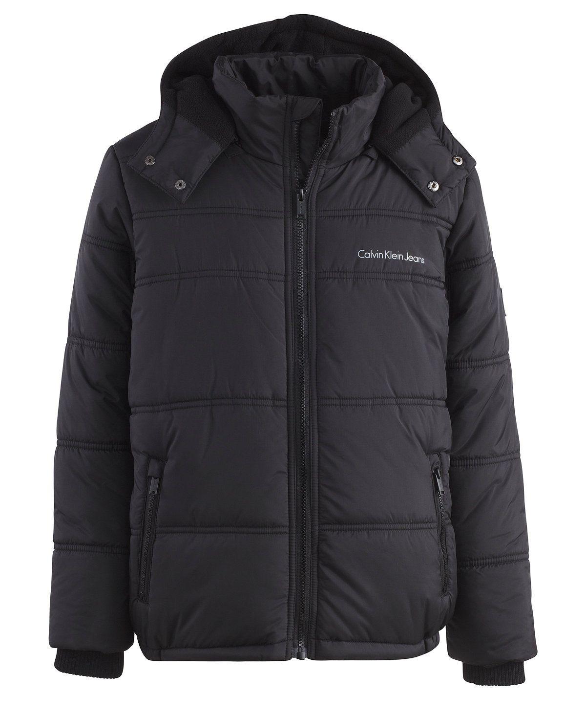 0d16ce83e Calvin Klein Eclipse Hooded Puffer Jacket, Toddler Boys & Little ...