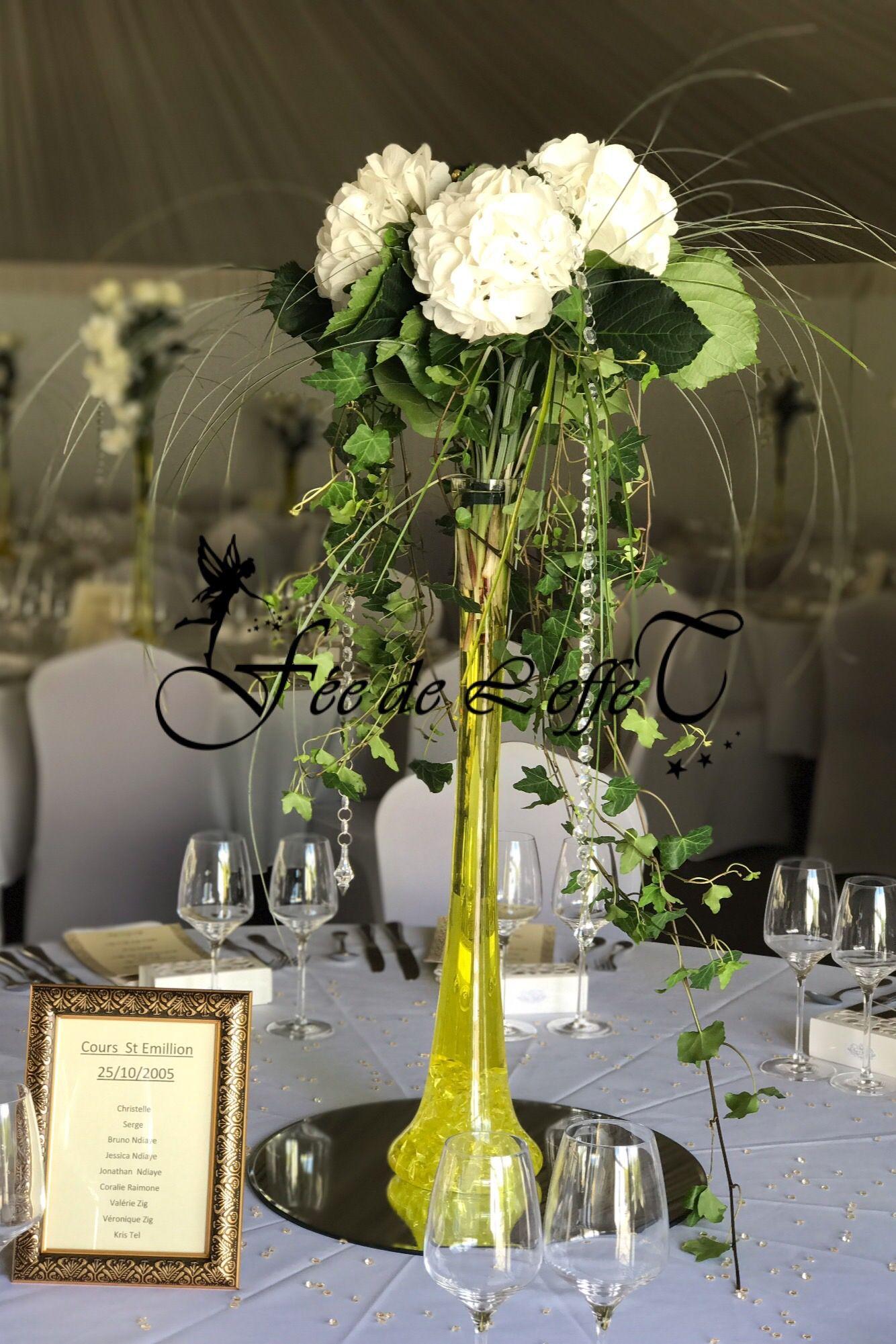 Vase Soliflore Avec Images Centre De Table Mariage Table