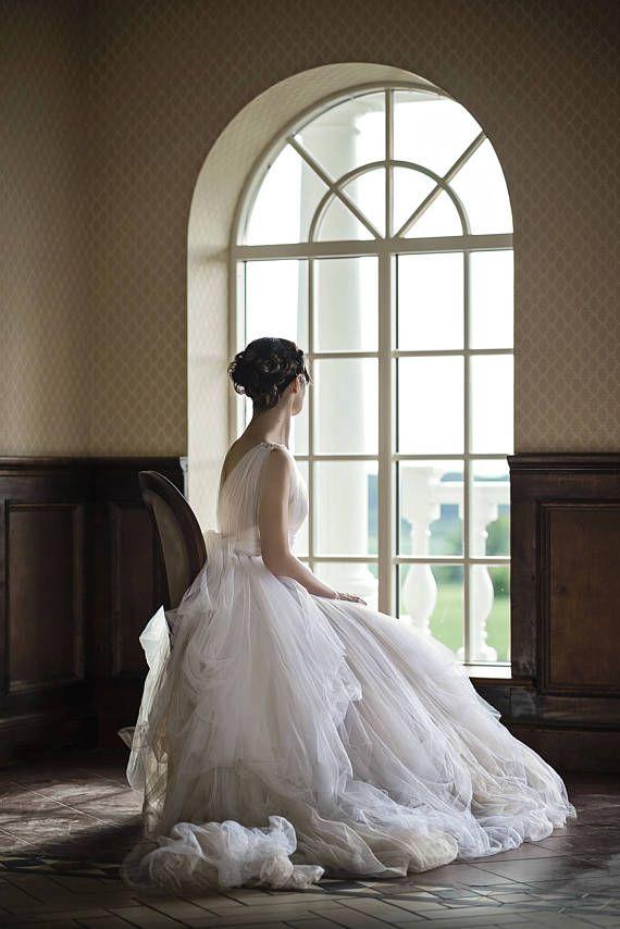 Böhmische Brautkleid Tüll Brautkleid einzigartige   Hochzeit ...