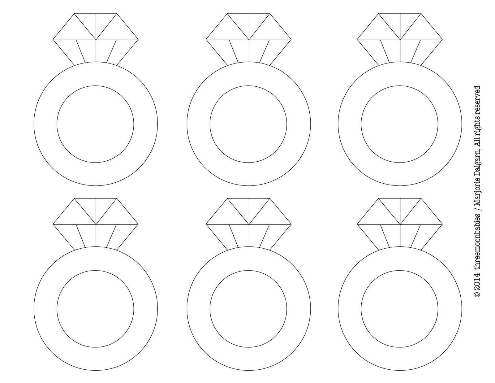 Download Or Print This Amazing Coloring Page Diamond Ring Template Printable Free Wedding Printables Printable Bridal Shower Games Ring Bridal Shower