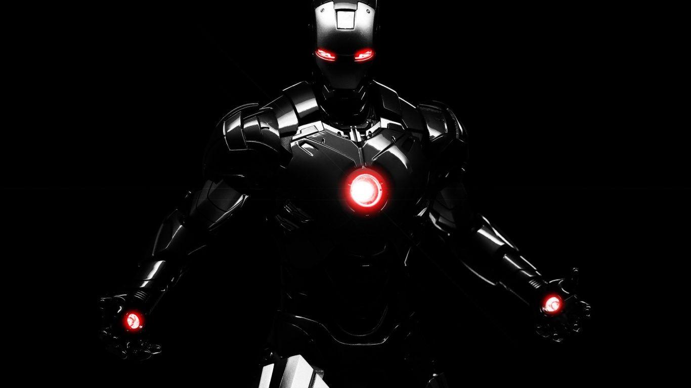 Laptop Black Wallpapers Hd Desktop Backgrounds 1366 768 Dark Wallpapers 1366x768 Adorable Wallpapers Iron Man Wallpaper Iron Man Photos Iron Man