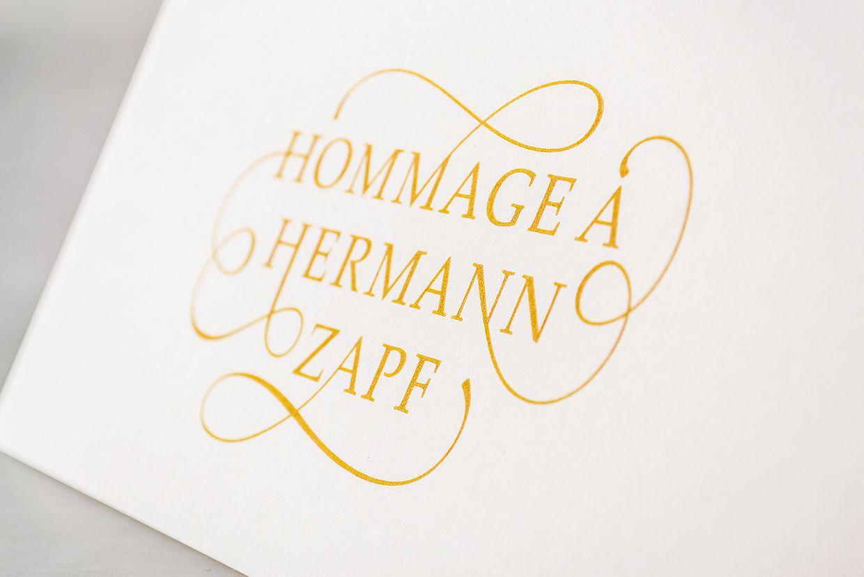 Hommage À Hermann Zapf - by Renato Molnar #typography