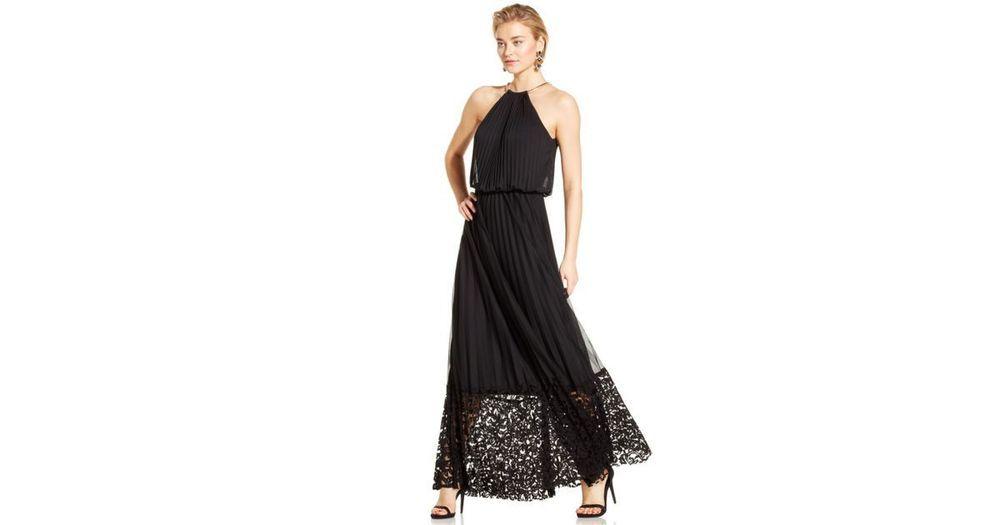 Xscape Pleated Halter Blouson Gown black women SIZE 8p #Xscape ...