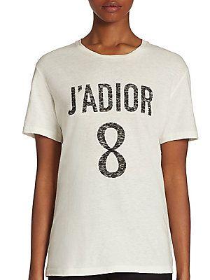 e214bfa2 Dior J'Adior T-Shirt | WHITES! in 2019 | Dior, Shirts, Spring shirts