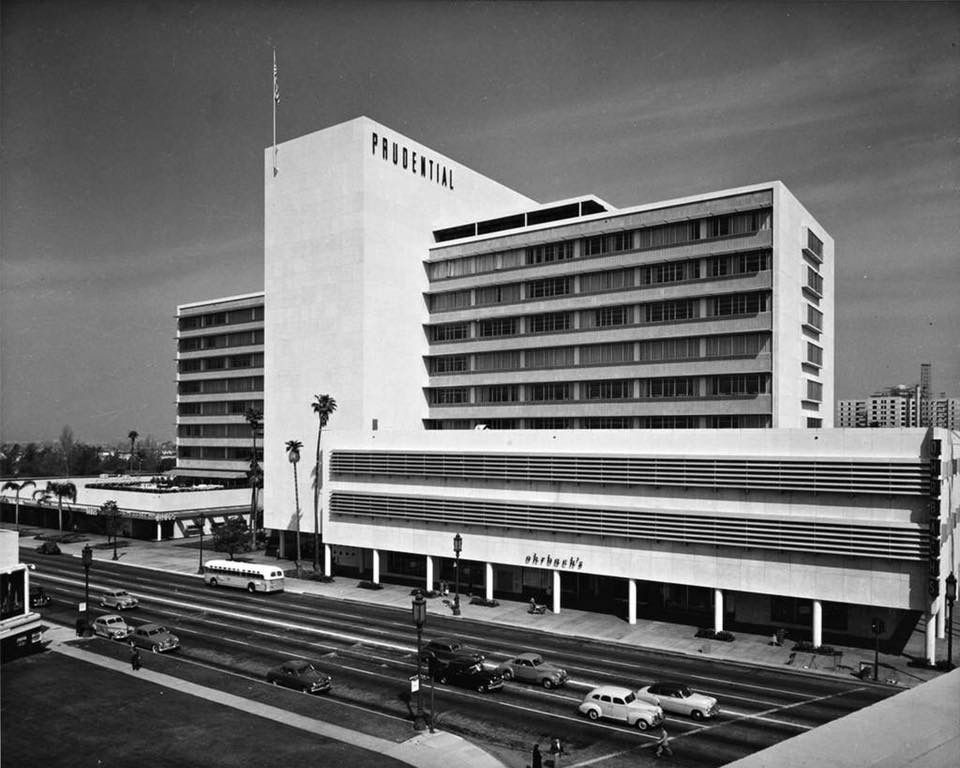 The original Ohrbach's Department Store in Prudential Square on Wilshire Boulevard in Los Angeles, California!! It opened in 1948. My sister Gloria worked here!! My mother used to shop  and would buy alot of my clothes here, especially when I was in high school!! So many memories!!