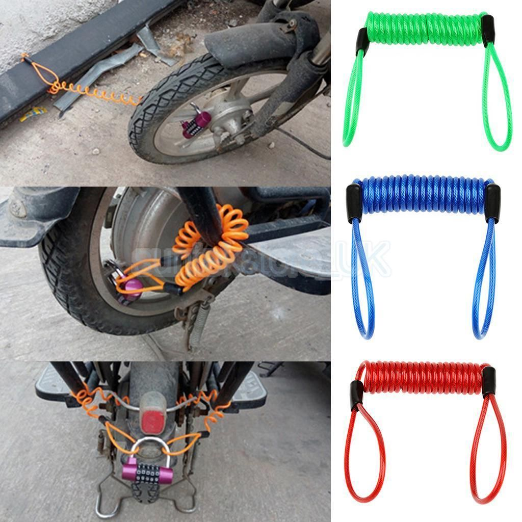 1 2m 1 5m Safety Disc Brake Lock Reminder Cable Wire For Scooter