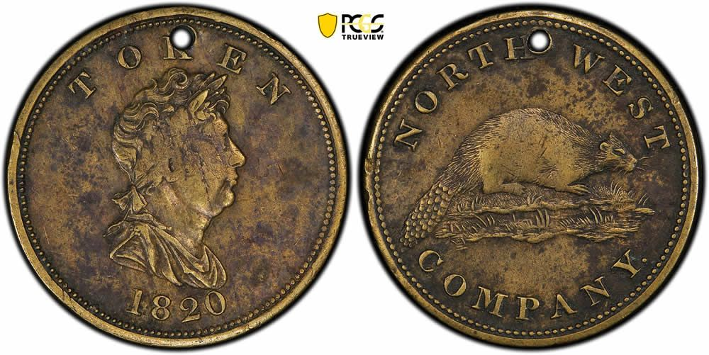 1820 north west company token pcgs xf40 coin community