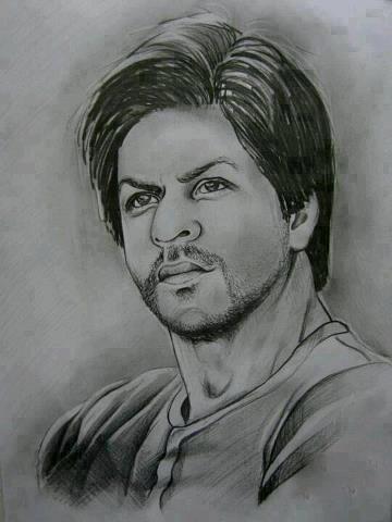 Shahrukh Khan Amazing Look Painting   Portrait sketches ...