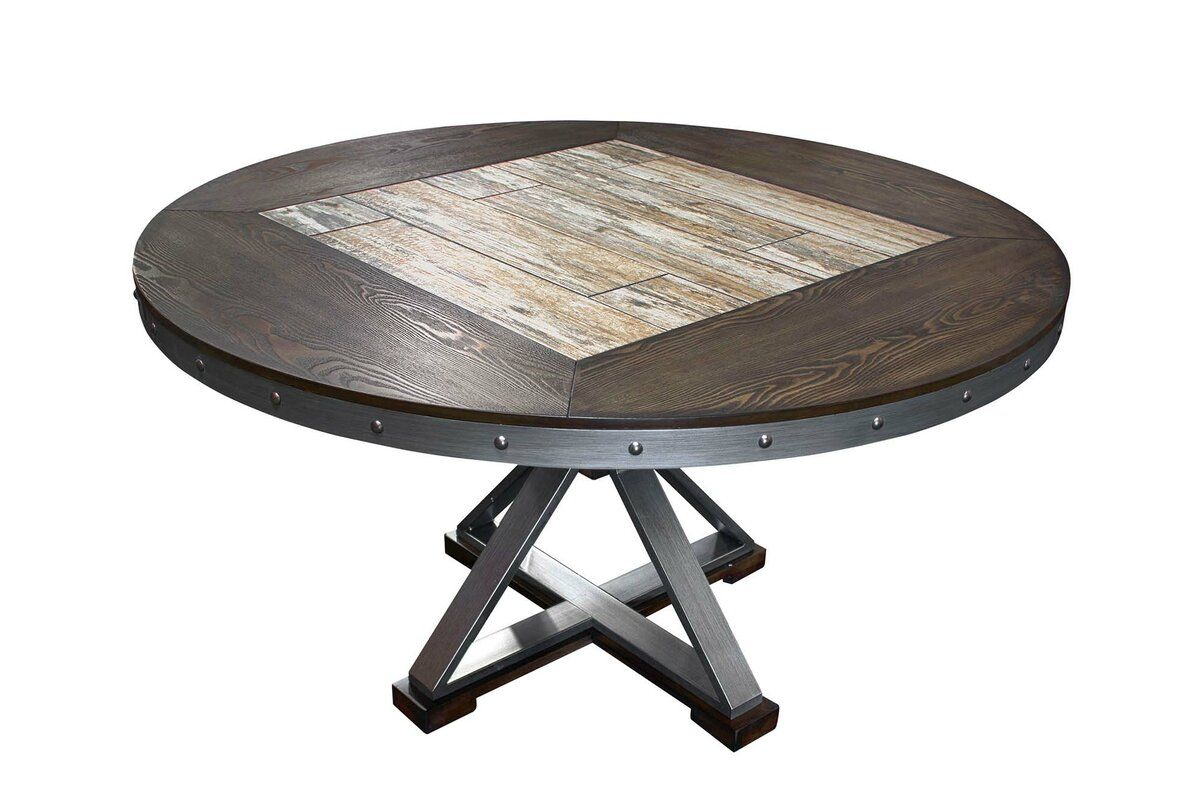 Williston Forge Lomba Round Dining Table Dining Table In Kitchen Round Dining Table Round Dining [ 800 x 1203 Pixel ]