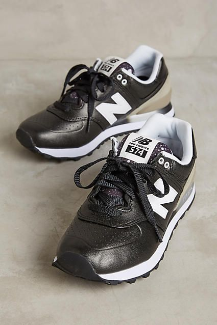 New Balance 574 Gradient Black White Womens Trainers