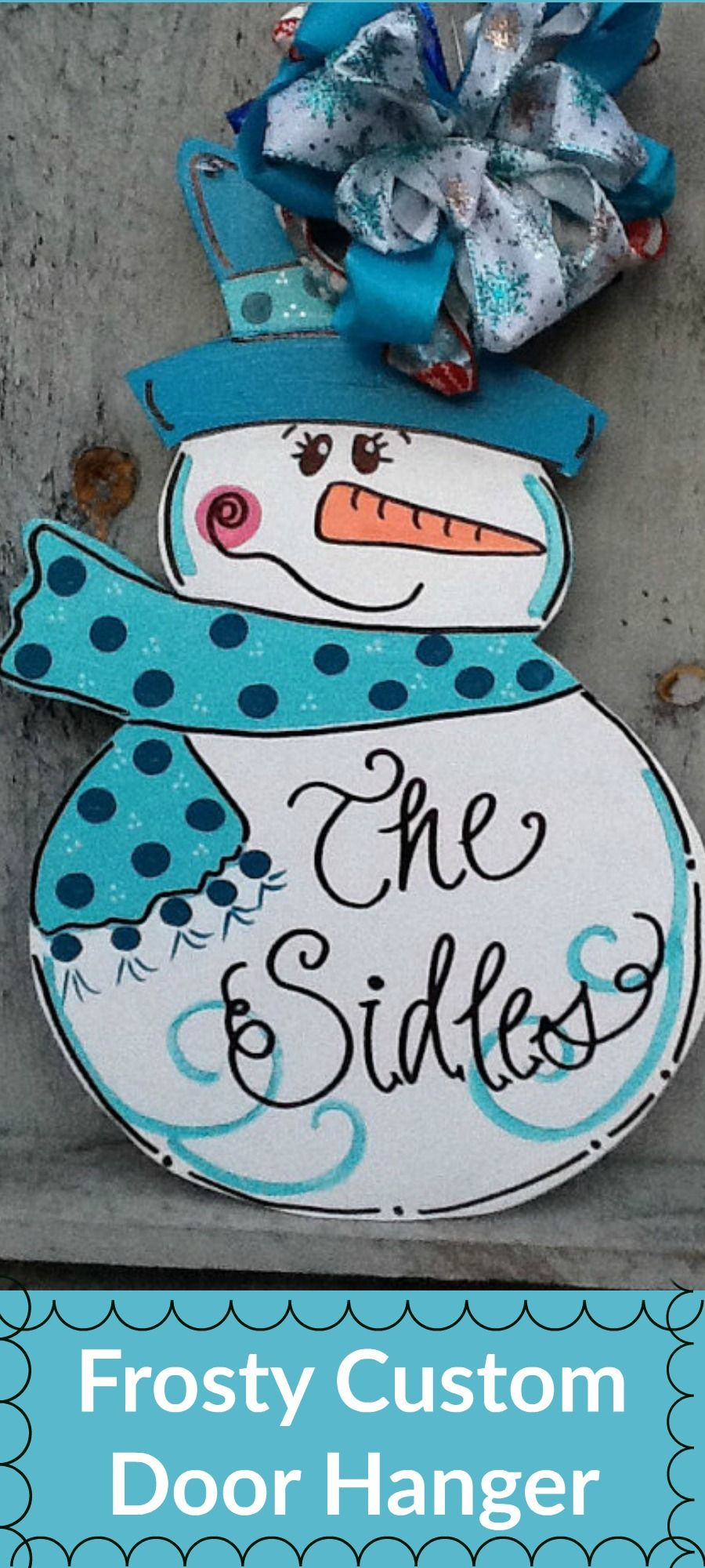 I Love This Frosty The Snowman Door Hanger Craft Christmas