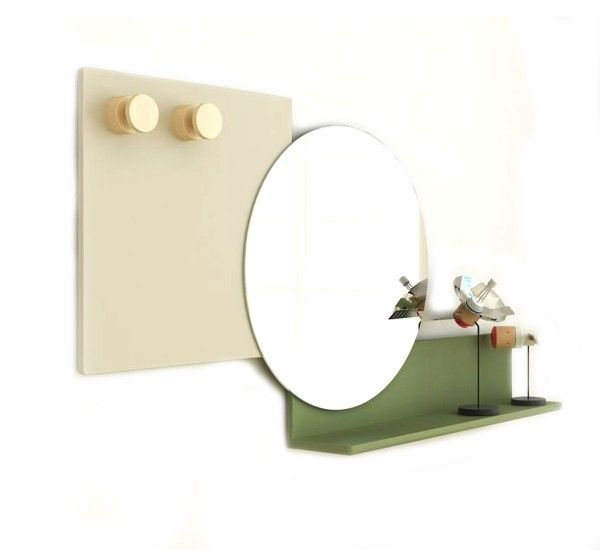 Piers is a mirror with shelf designed by Roberto Paoli for Bonaldo. It is made of wood with different colours combinations. Piers is a multifaceted element consisting of three geometric figures, and each figure has a function: the square becomes a practical coat hanger provided with solid wooden knobs; the circle is a mirror and the rectangle functions as a convenient storage shelf. Piers has its very own code, consisting of overlapping decorative combinations which make it concurrently…