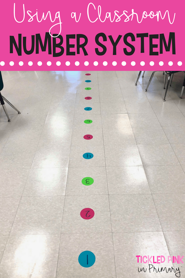 classroom number system back to school teacher tip classroom rh pinterest com