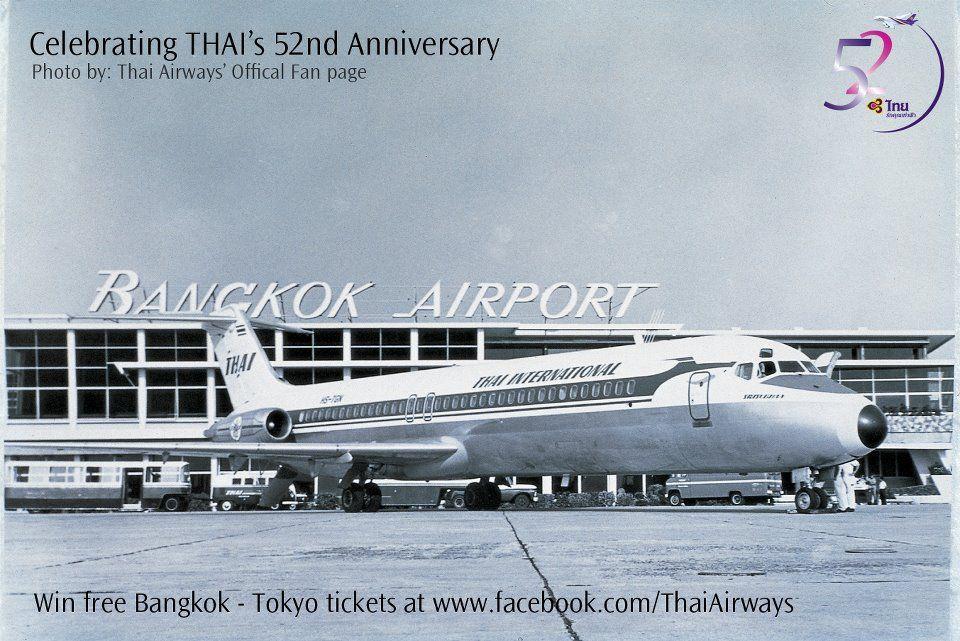 Thai International Dc 9 At Bangkok Don Muang Airport Circa 1960 S